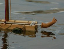 The, unwilling to deliver the message, swimming bottle